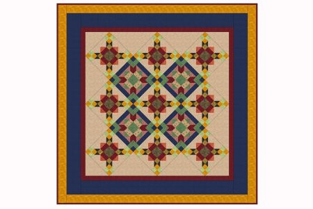 sew a unique kaleidoscope quilt pattern Cozy Kaleidoscope Patchwork Quilt Pattern