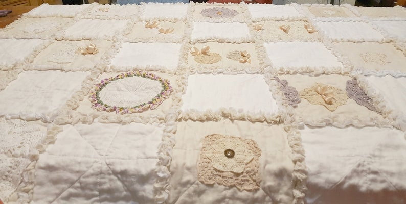 shab chic vintage doily quilt Interesting Vintage Doily Quilt Gallery