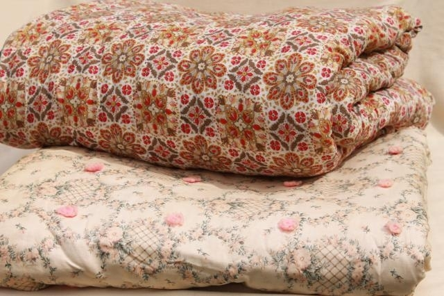 shab chic vintage print cotton quilt comforters soft warm Elegant Vintage Quilts And Bedspreads Inspirations