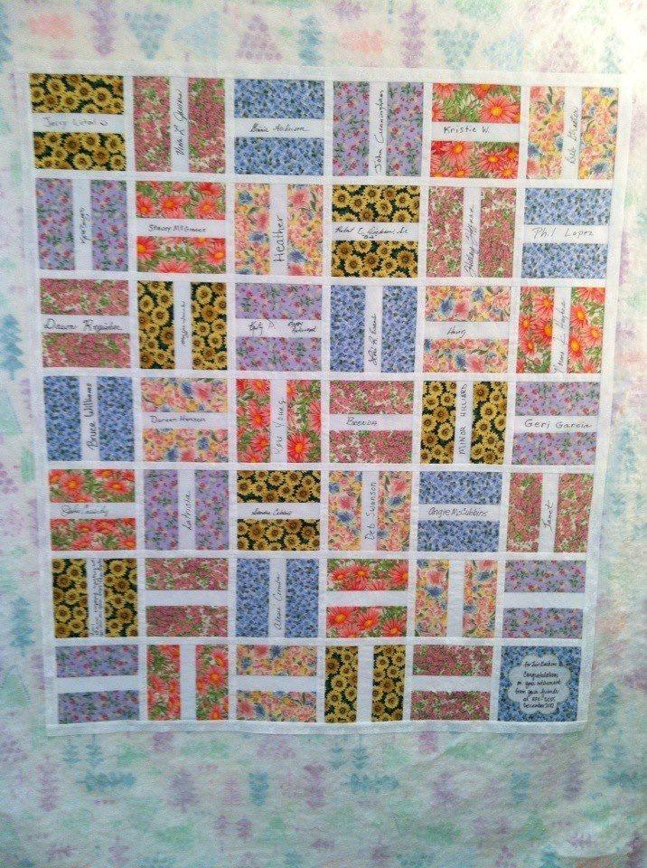 signature quilts thread memorysignature quilt top Stylish Signature Quilt Patterns Inspirations