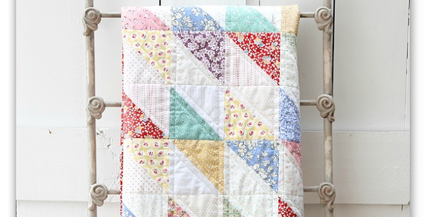 simple is best in this vintage style quilt quilting digest Cozy Vintage Quilt Designs Gallery