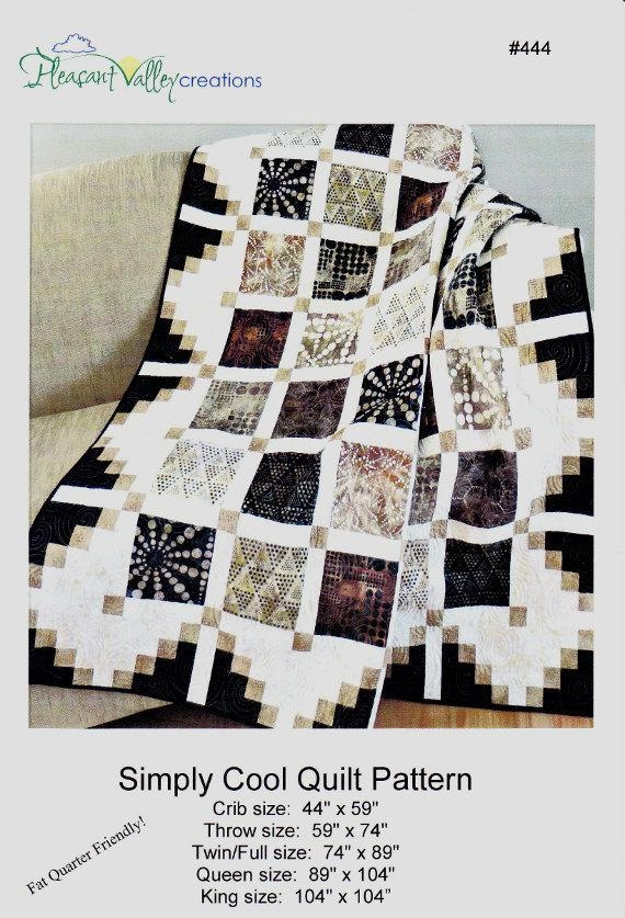 simply cool quilt pattern 444 fat quarter friendly crib to king size pleasant valley creations Interesting Full Size Quilt Patterns Gallery