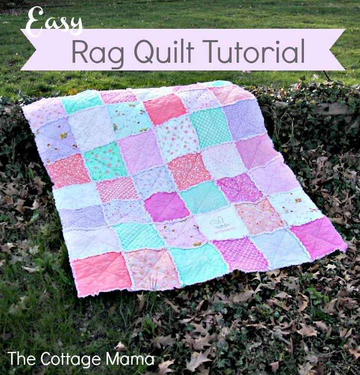 some bunny loves you easy rag quilt tutorial the cottage mama Stylish Easy Rag Quilt Patterns For Beginners Inspirations
