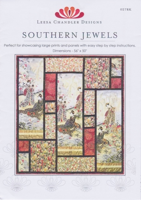 southern jewels leesa chandler designs diy pattern for large prints or panels Fabric Panel Quilt Patterns Inspirations