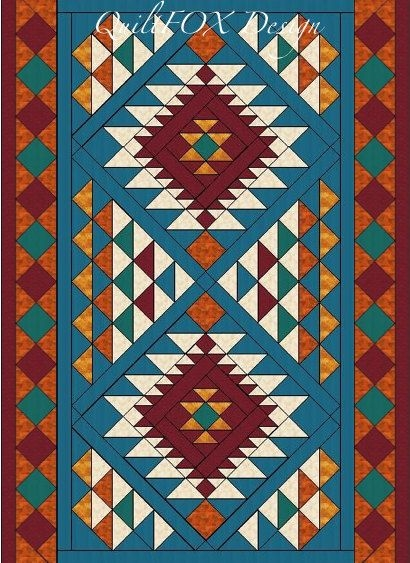southwest quilt pattern navajo inspired indian native Cool American Indian Quilt Patterns Gallery