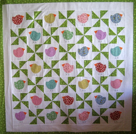 springtime chub chicks bloggers quilt festival Cozy Chubby Chicks Quilt Pattern
