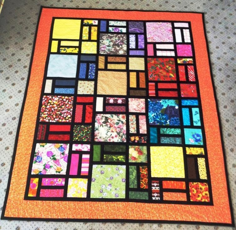 stained glass quilt designed bob bluprint Interesting Stained Glass Quilt Patterns Inspirations