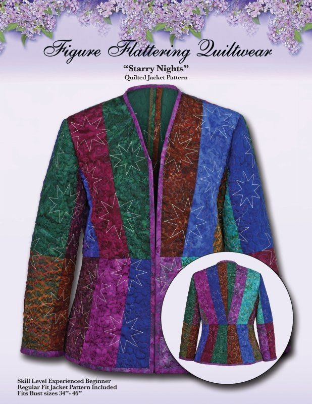 starry nights quilted jacket pattern quilt projects Stylish Quilted Clothing Patterns Inspirations