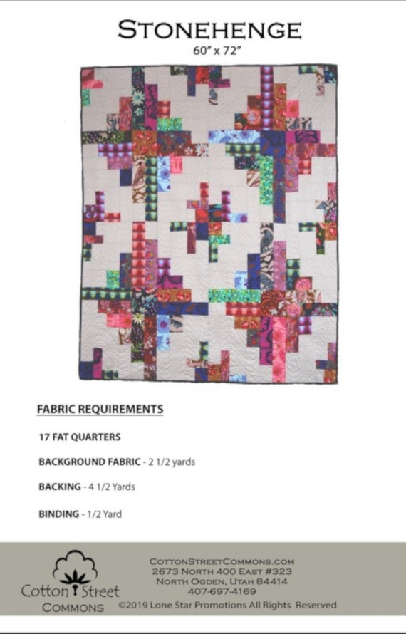 stonehenge quilt pattern cotton street commons 215 fat quarter friendly Stylish Stonehenge Quilt Patterns