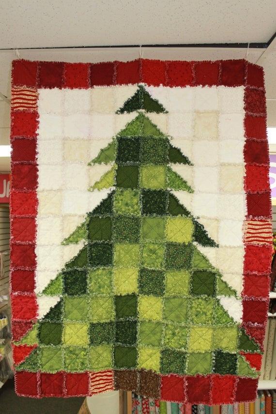 stpq5 christmas tree rag quilt pattern paper Christmas Tree Rag Quilt Pattern Gallery