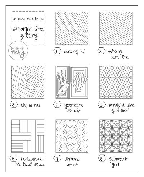 straight line quilting patterns sewingquilting machine Straight Line Quilting Patterns Inspirations
