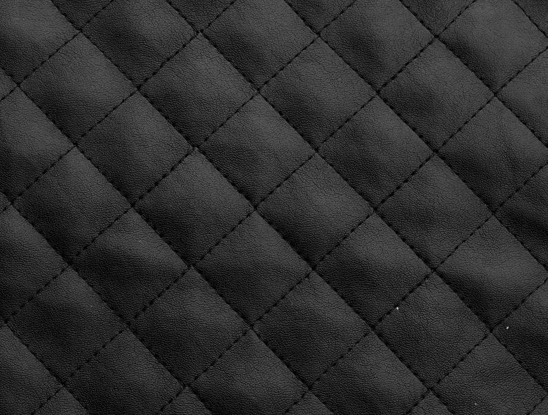 suede faux black quilted auto headliner headboard trim seat chair fabric with foam backing upholstery 58 wide Stylish Black Quilted Fabric Inspirations
