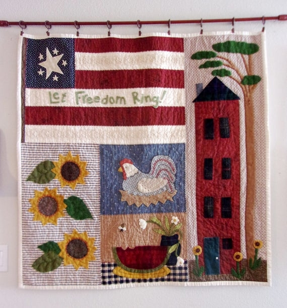 summer seasonal quilted wall hanging paper pattern Seasonal Quilted Wall Hanging Patterns