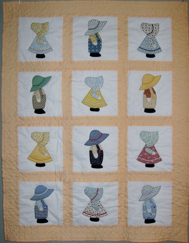 sunbonnet sue and overall sam dutch doll quilt closest i Unique Dutch Boy And Dutch Girl Quilt Patterns Gallery