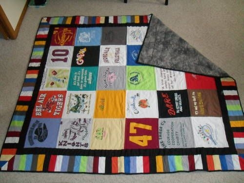 t shirt quilt use scraps to make coordinating band around Stylish Pattern For TShirt Quilt Gallery