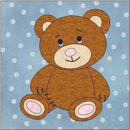 teddy bear quilt block pattern quilt patterns teddy bear Unique Teddy Bear Applique Quilt Pattern Inspirations