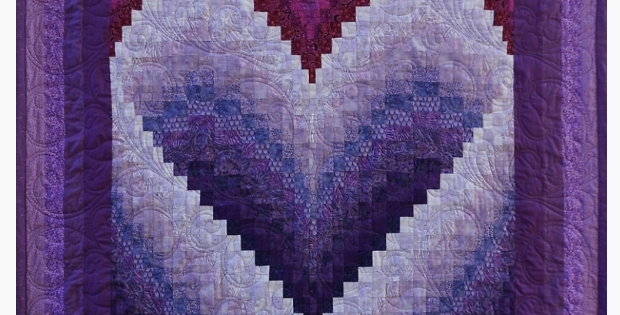 the most captivating bargello heart quilt ever quilting cub Elegant Bargello Heart Quilt Pattern