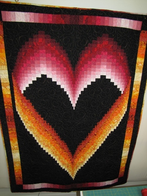 the quilting kitty bargello heart quilt tutorial Elegant Bargello Heart Quilt Pattern