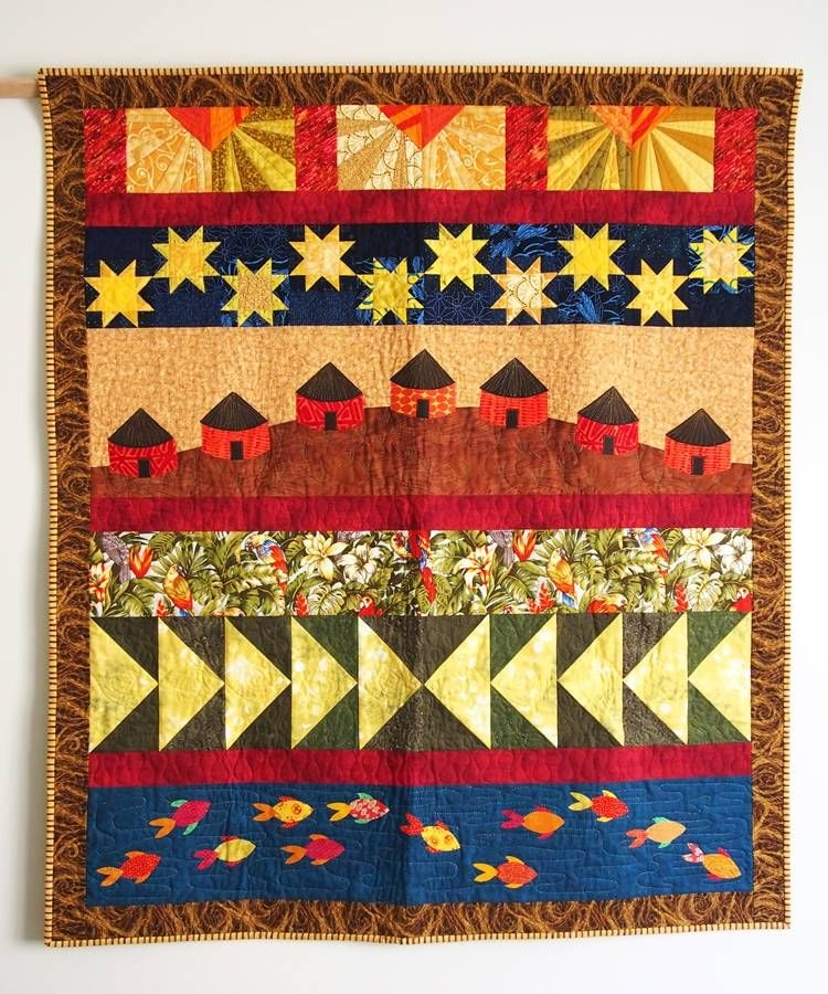 the village quilt pattern pictorial quilts houses quilt Pictorial Quilt Patterns Gallery