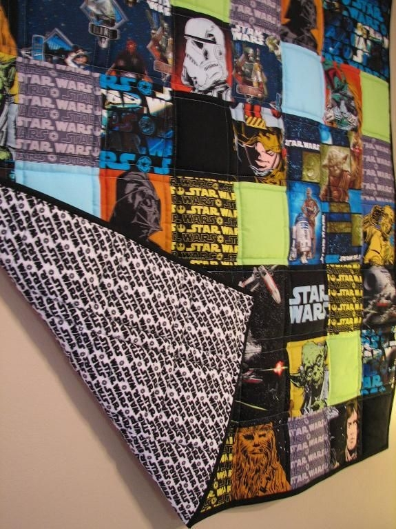 this is a cool quilt you could do other things to other Unique Star Wars Quilt Fabric Inspirations