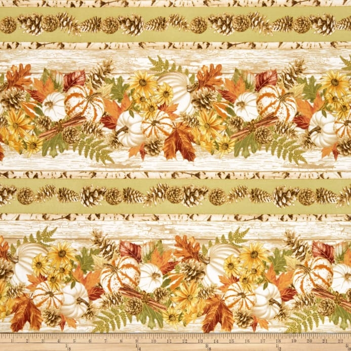 timeless treasures metallic fall foliage 2 pumpkin stripe sage Cool New Timeless Treasures Quilt Fabric Inspiration Gallery