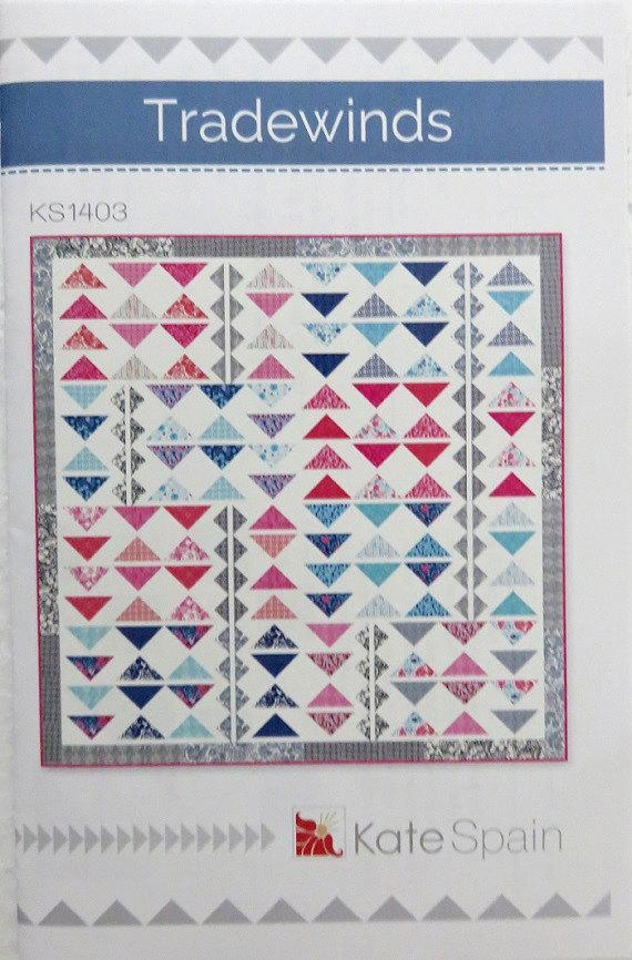 tradewinds quilt pattern kate spain ks 1403 modern fat quarter friendly paradiso flying geese Cool Tradewinds Quilt Pattern