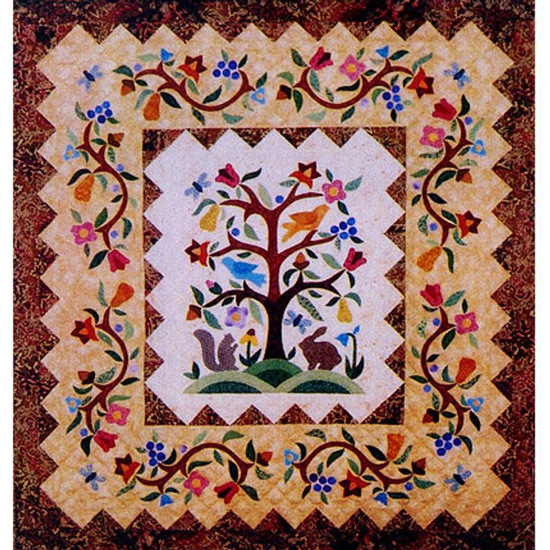 tree of life quilt pattern tree quilt pattern applique quilt pattern folk quilt animal quilt pattern rabbit quilt pattern tree of life Unique Tree Of Life Quilt Pattern Gallery
