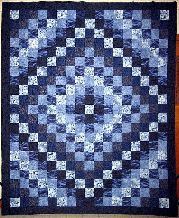 trip around the world i love blue quiltsi realize it would Elegant Quilt Pattern Trip Around The World