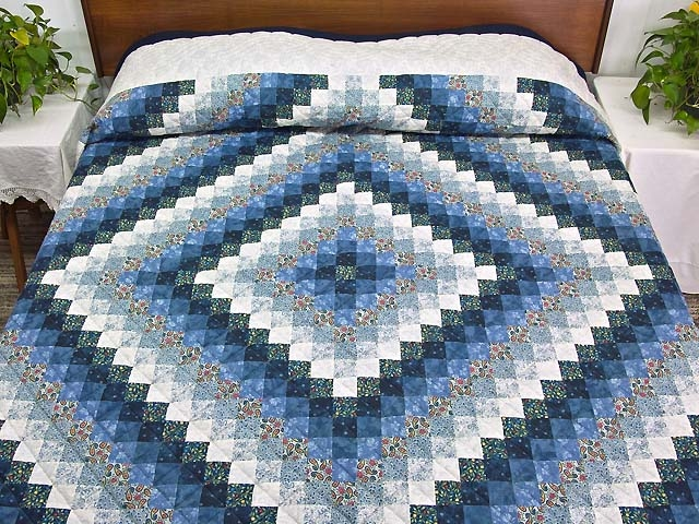 trip around the world quilt gorgeous made with care amish Interesting Round The World Quilt Pattern