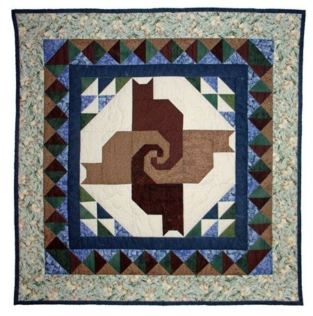 trunk show twisted tails mystery quilt knitting Cozy Twisted Tails Mystery Quilt Gallery