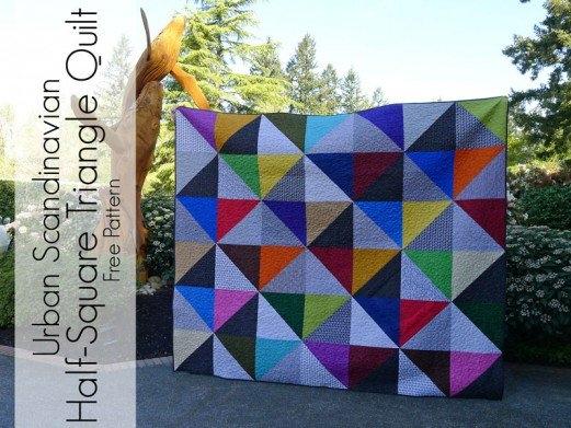 urban scandinavian modern half square triangle quilt pattern Elegant Half Square Quilt Patterns