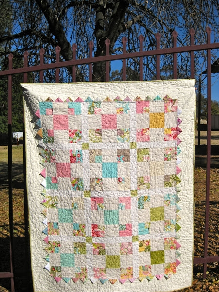 variation on a disappearing 9 patch block and quilt tutorial Elegant Nine Patch Quilt Patterns Variations Inspirations