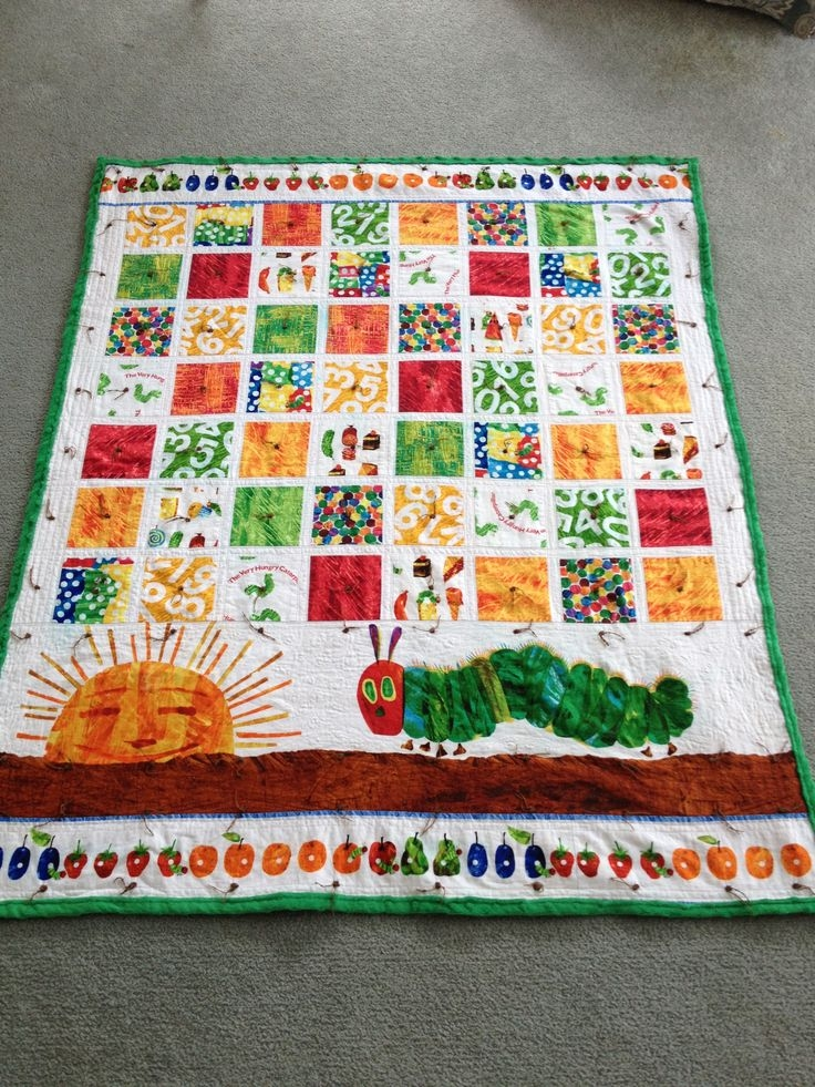 very hungry caterpillar quilt looks like to me it is charms Elegant The Very Hungry Caterpillar Quilt Pattern Gallery