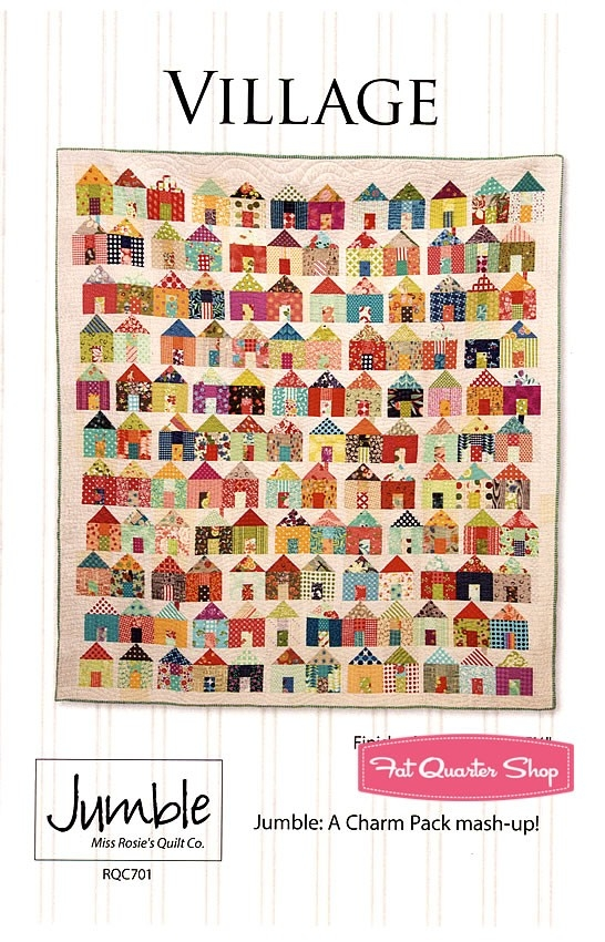 village quilt pattern miss rosies quilt company rqc 701 Modern Miss Rosie Quilt Patterns