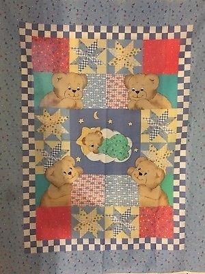 vintage batoddler quilt panel princess fabrics 999 picclick Cozy Vintage Baby Quilt Panels Gallery