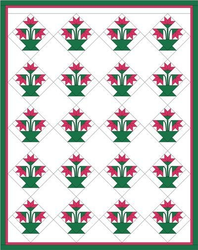 vintage carolina lily quilt pattern crafts quilt Elegant Carolina Lily Quilt Pattern Gallery
