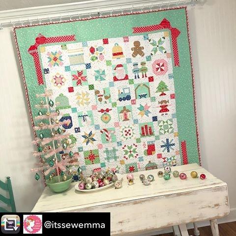 vintage christmas lori holt Cozy Vintage Christmas Quilt