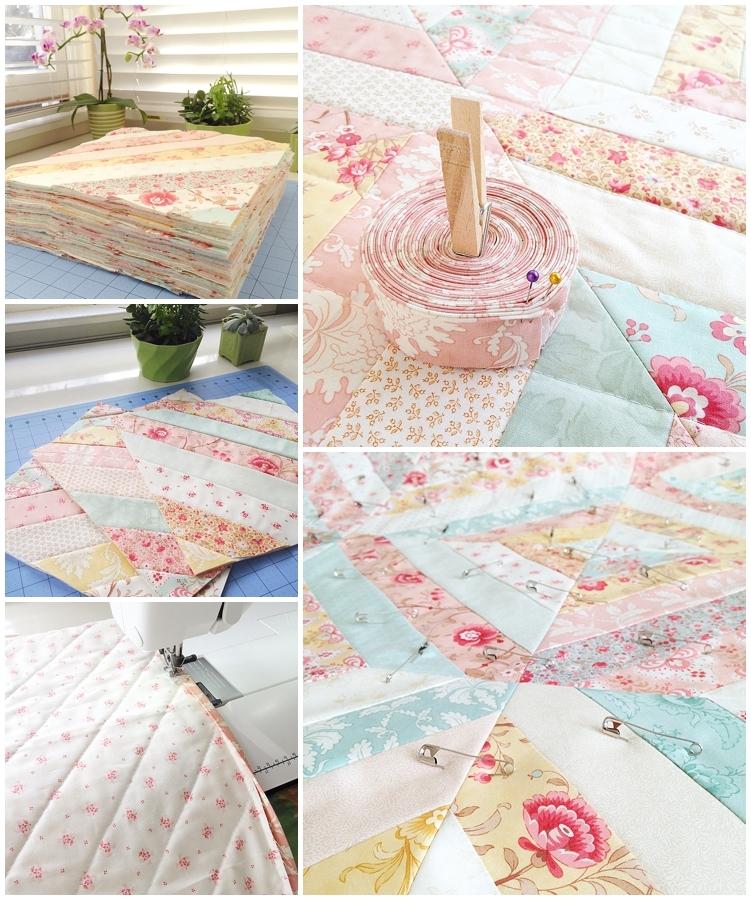 vintage floral custom quilt loganberry handmade Modern Vintage Floral Quilt Inspirations