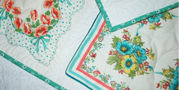 vintage hankie quilt only looks difficult quilting digest Unique Vintage Hankie Quilt