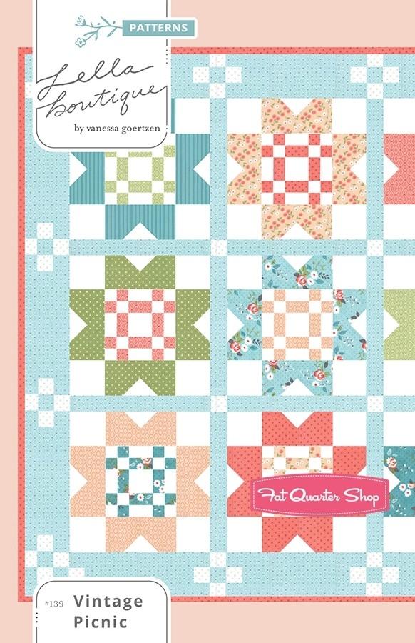 vintage picnic quilt pattern lella boutique fqs exclusive Modern Vintage Picnic Quilt Gallery