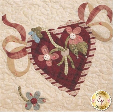 vintage valentine block 11 kit please note this kit is Cool Vintage Valentine Quilt Kit Gallery