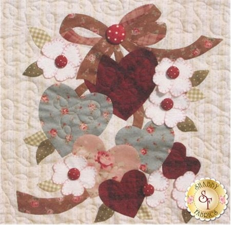 vintage valentine block 12 kit please note this kit is Cool Vintage Valentine Quilt Kit Gallery