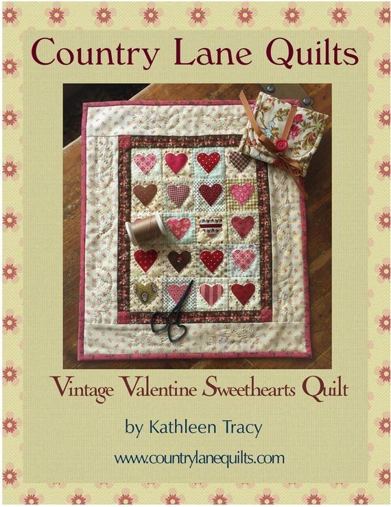 vintage valentine sweethearts quilt pattern Unique Vintage Valentine Quilt Gallery