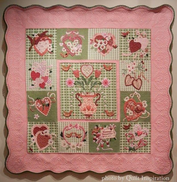 vintage valentines karin crawford quilted kathi carter best Elegant Vintage Valentine Quilt Pattern Verna Mosquera Inspirations