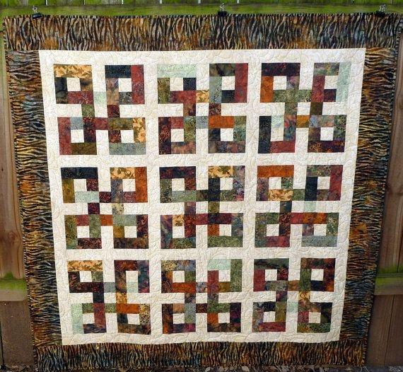 waste knot batik quilt reduced quilting batik quilts Stylish Waste Knot Quilt Instructions