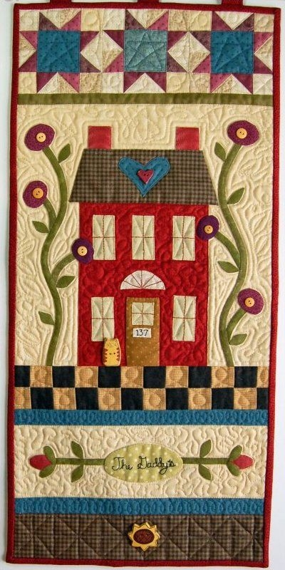 welcome home wall hanging quilt pattern buttons and bees Unique Wall Hanging Quilt Pattern Inspirations