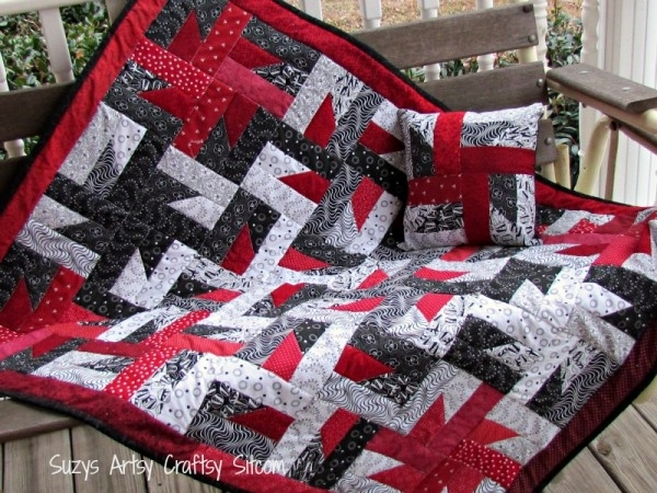 windmills at night quilt pattern Red And Black Quilt Patterns
