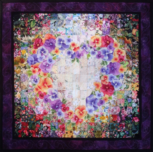 with all my heart watercolor quilt kit whims Stylish Watercolor Heart Quilt Pattern