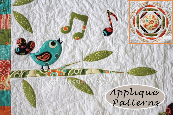 applique patterns songbird tree sun craft passion free Stylish Applique Patterns For Quilting