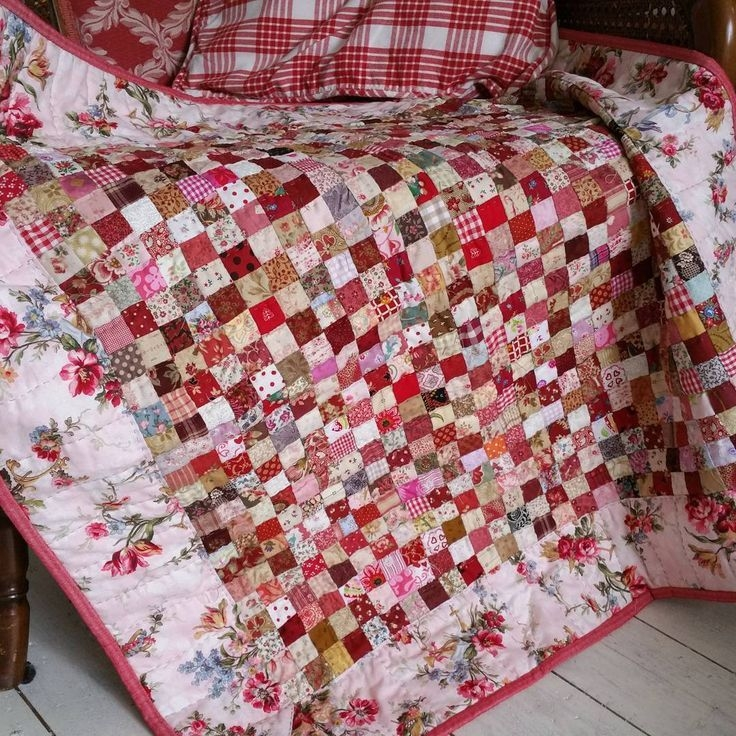 beautiful red postage stamp quilt scrap quilt patterns Stylish Postage Stamp Quilt Pattern Inspirations